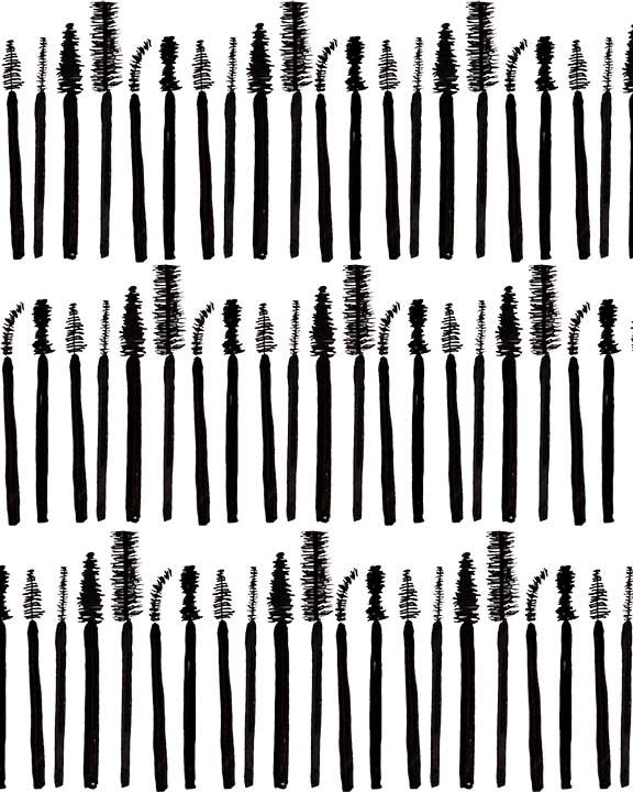 Mascara Brush // An illustration by Bouffants and Broken Hearts