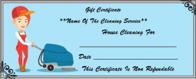 Merry Maids Gift Certificate Gift Certificate Template Cleaning Gift Gift Certificates