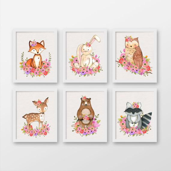 woodland animal little girl bedroom decor