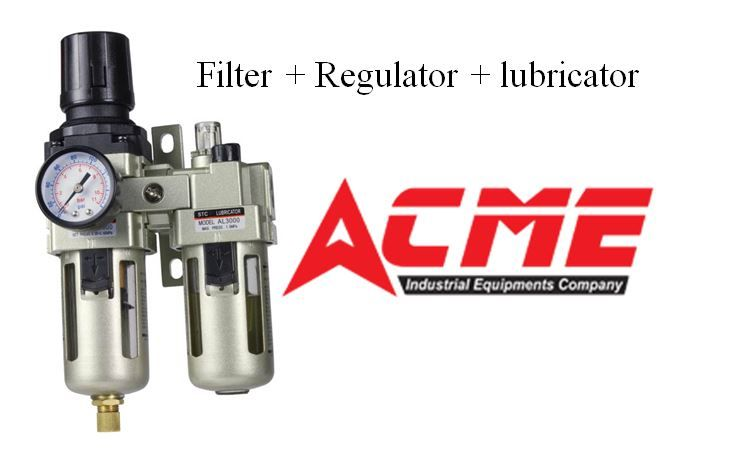 ACME Industrial Equipment's  offers you a large collection of Filter Regulator Lubricator that has been industrially verified and is used in the preparation of air to suit all kinds of compressed air tools and equipments. We are providing FRL in different models and different sizes also with maximum pressure rating 7 kg/cm^2  and 12 kg/cm^2. For more info visit @https://goo.gl/93mDcS  Contact : +91 9908082672  Mail id : acme.salesdept@gmail.com #pneumaticvalves  #frl…