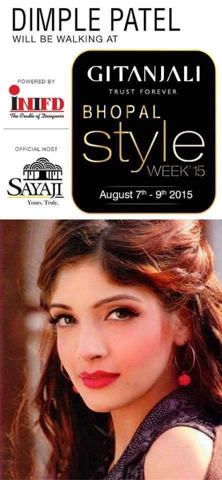 Miss India Dimple Patel will be walking at Gitanjali Bhopal Style week #BhopalStyleWeek #BhopalFashionShow #DimplePatel #DesignerMumtazKhan #BestFashionDesignerofIndia
