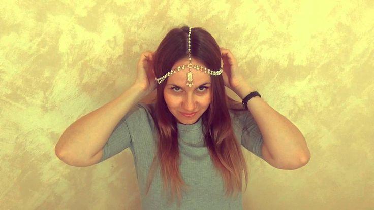 Быстрые ВидеоОбзоры - Украшение для волос в стиле Boho (AliExpress)