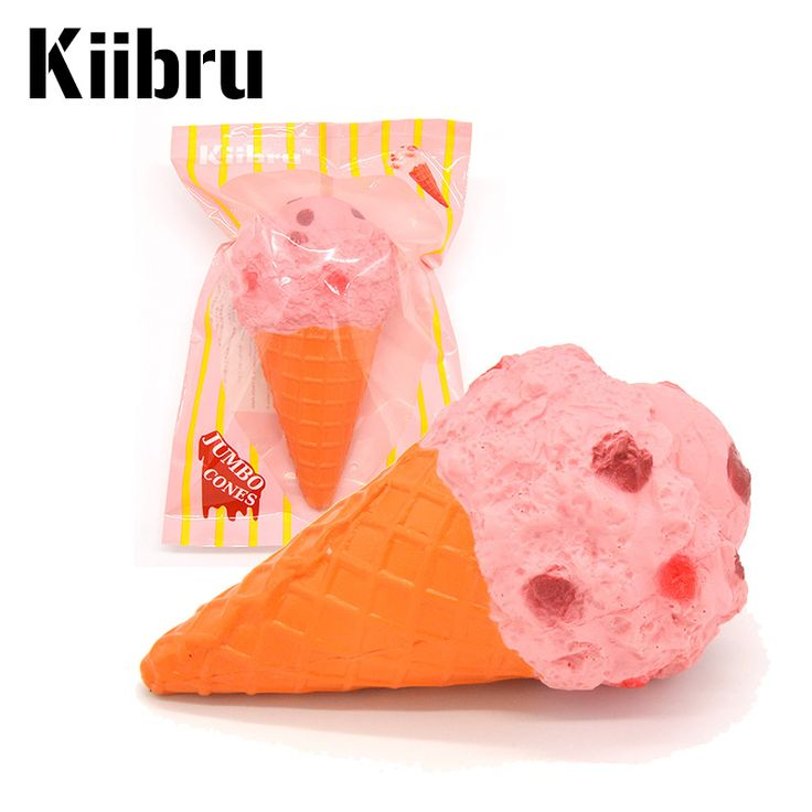 Find More Mobile Phone Straps Information about 12 PCS/Lot Kiibru Super Jumbo Pink Ice Cream Cone Squishy Scented Slow Rising Soft Original Package Wholesale,High Quality squishy scented,China squishies wholesale Suppliers, Cheap wholesale squishy from Areeii store on Aliexpress.com