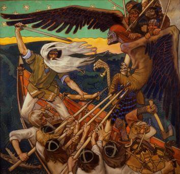 Akseli Gallen-Kallela (1865-1931), The Defence of the Sampo, Tempera 1896.