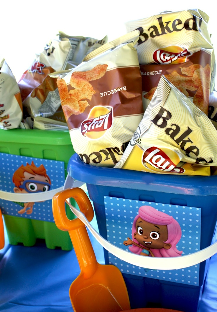 Bubble Guppies Party Buckets