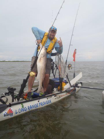 Bull red kayak fishing off of the louisiana gulf coast for Kayak fishing louisiana