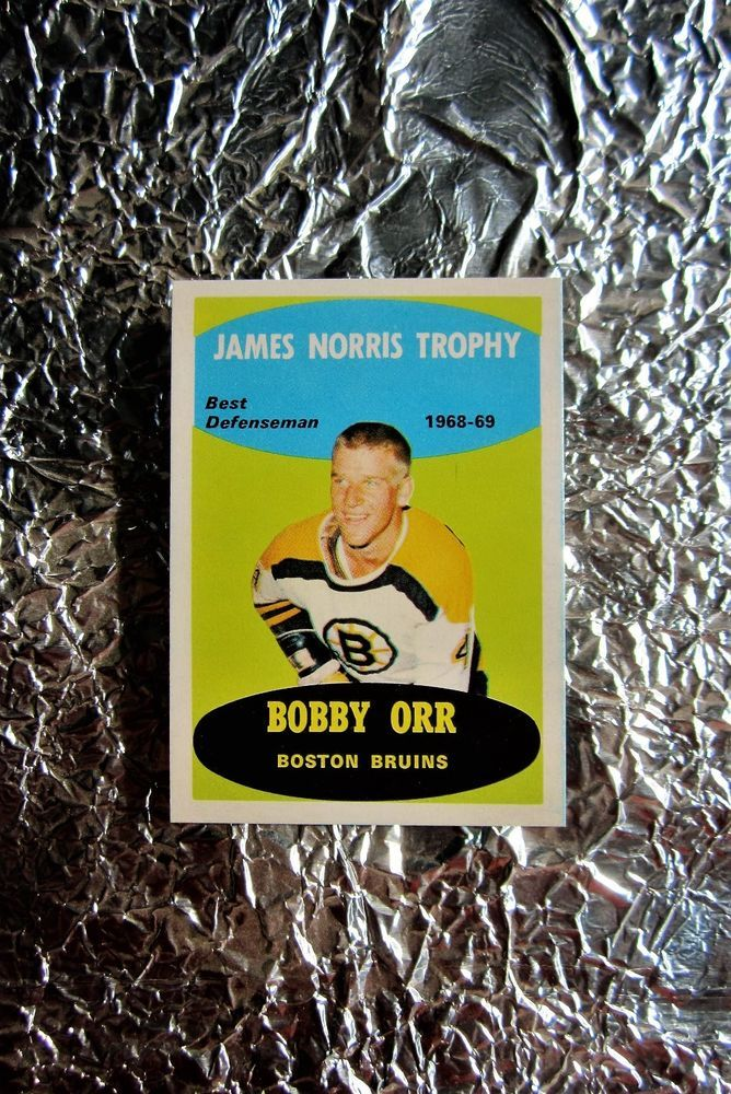 1969-70 OPC Bobby Orr James Norris Trophy Card Boston Bruins NrMT 209 See 4 Pics