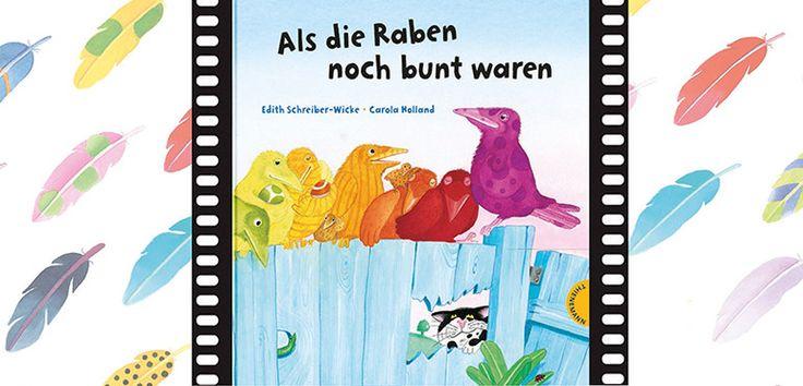 Bilderbuchkino, Als die Raben noch bunt waren, Geschichte, lesen, vorlesen, Bilderbuch, Kino, Buch