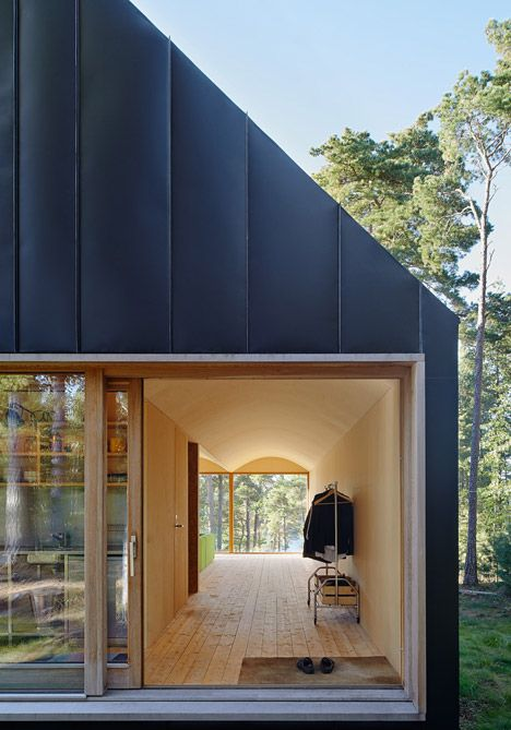 Swedish house featuring a black steel exterior.