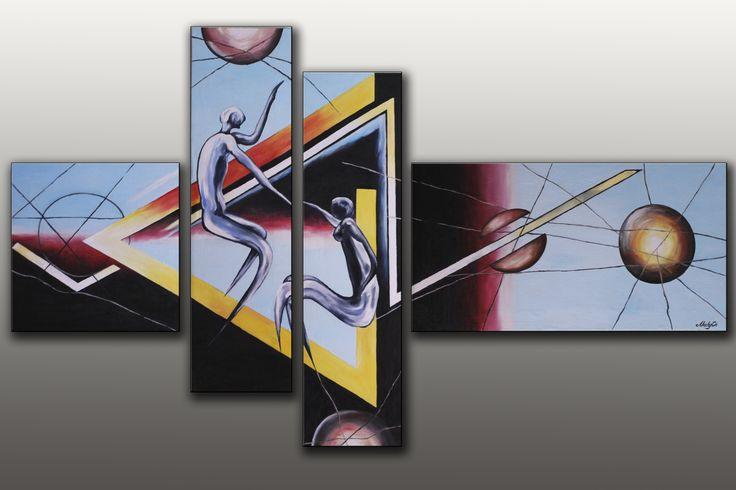 Модульные картины ручной работы на холсте масляными красками.  Modular handmade on canvas with oil paints.