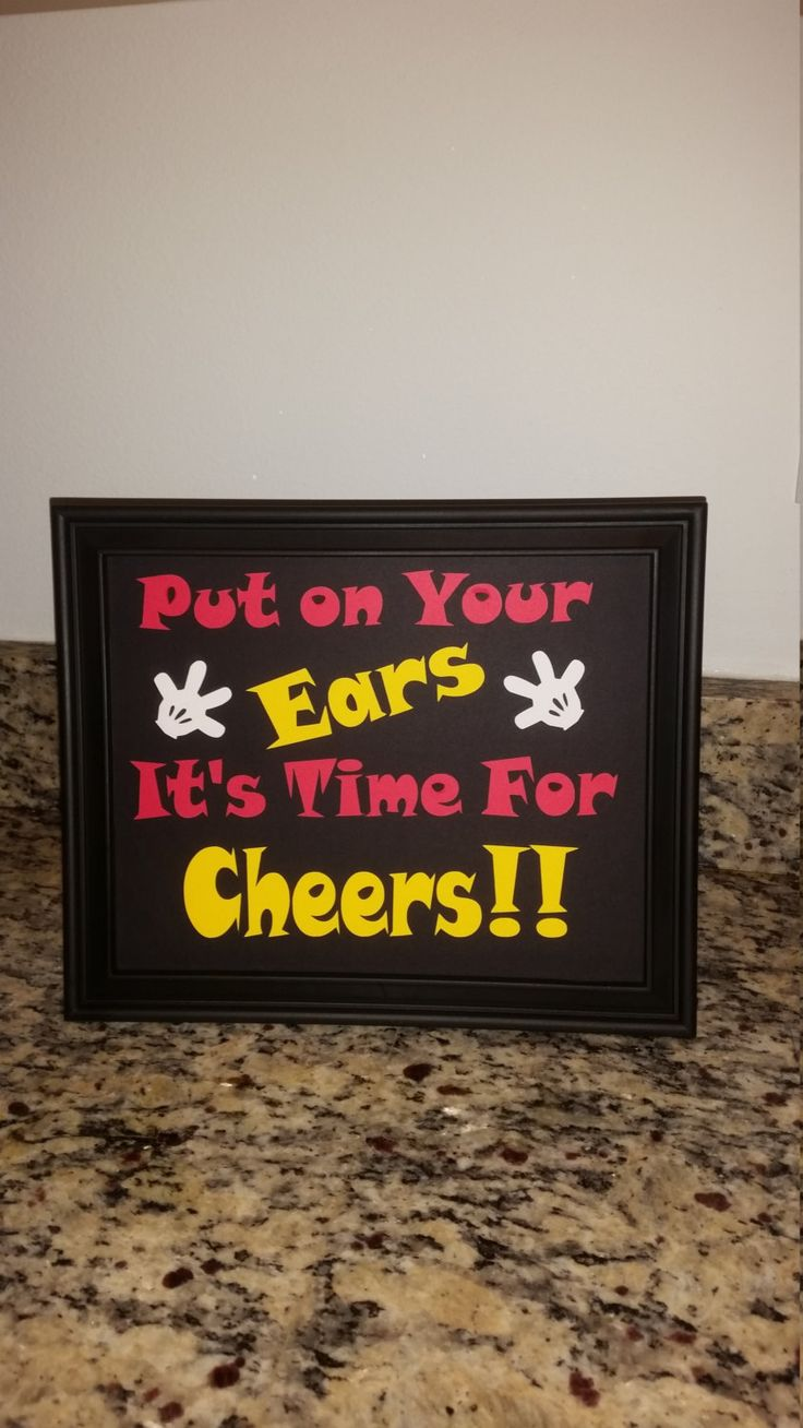 We've got ears completed sign with frame. Mickey Mouse Birthday by VannessasCreations on Etsy