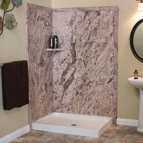 Flexstone 48 Quot X36 Quot X78 Quot Elegance 2 Panel Shower Kit At