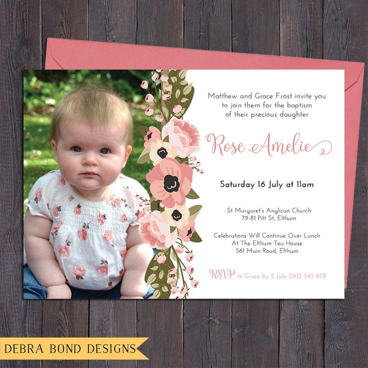 Christening invitation baptism invitation naming invitation girl