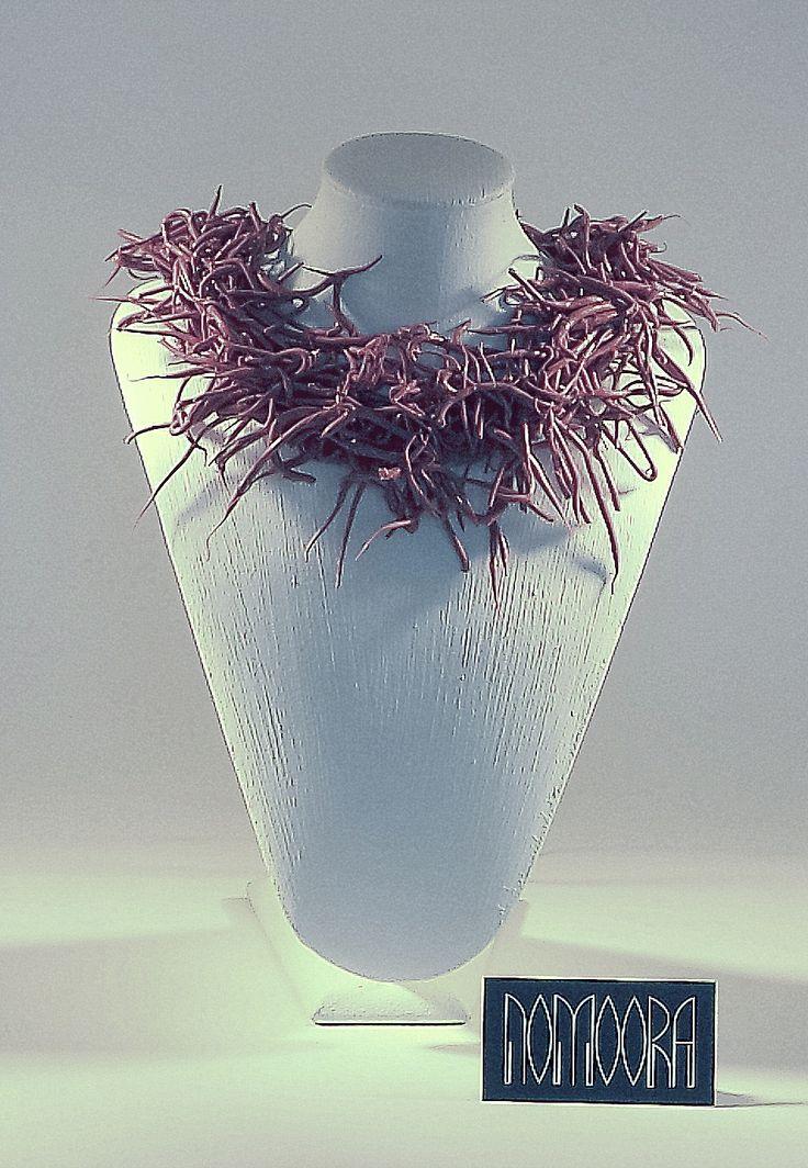 Medusa necklace.Contemporary, handmade jewel designed by Petros Mantouvalos for Nomoora Jewellery. Shop on line @ www.nomoora.com