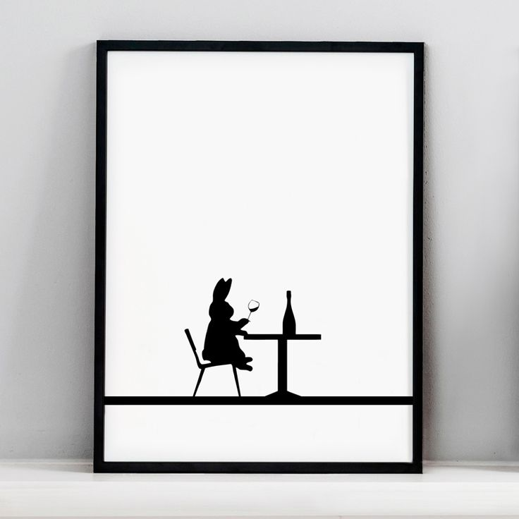 Wine Tasting Rabbit Screen Print by HAM. Jo screen prints each design by hand on premium 315gm off white British paper. All are signed, unframed and come either flat with an acid free backing board (30 x 40 cm) or careful rolled in a wide black cardboard tube (50 x 70 cm).