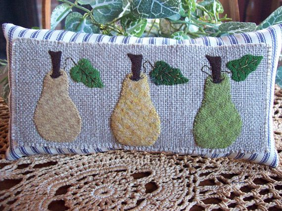 French Pears Shelf Pillow Tuck