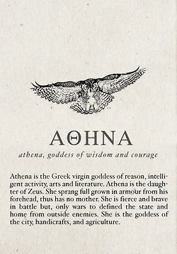 Greek Mythology- Goddess of Wisdom and Battle Strategy, One of The Twelve Olympian Gods- Athena