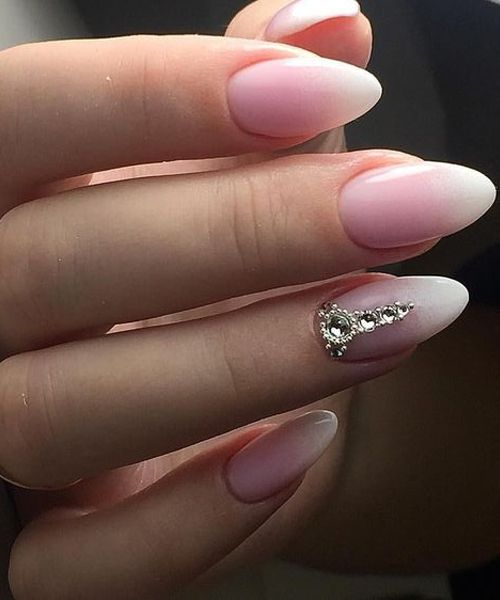 Fascinating Pink Ombre Wedding Nail Art Designs That Make You Mind-Blowing