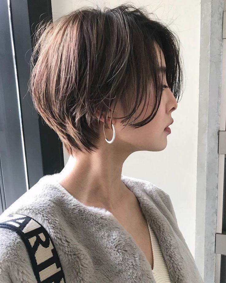 """Kurzer Bob Hair Katalog-Yoshino Konno auf Instagram: """"切 切 た"""