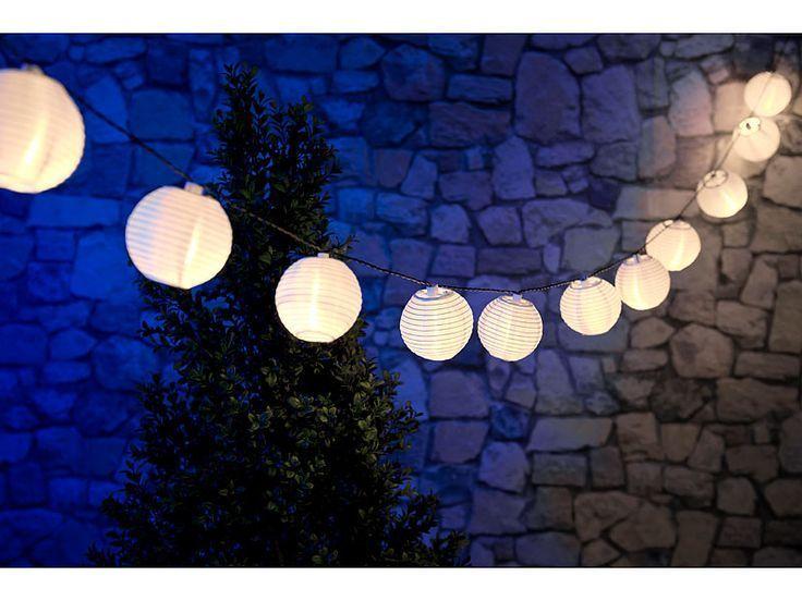 Led Lichterkette Solar Warmweiß.Solarledlichterkette Lichterkette Lampions Lunartec