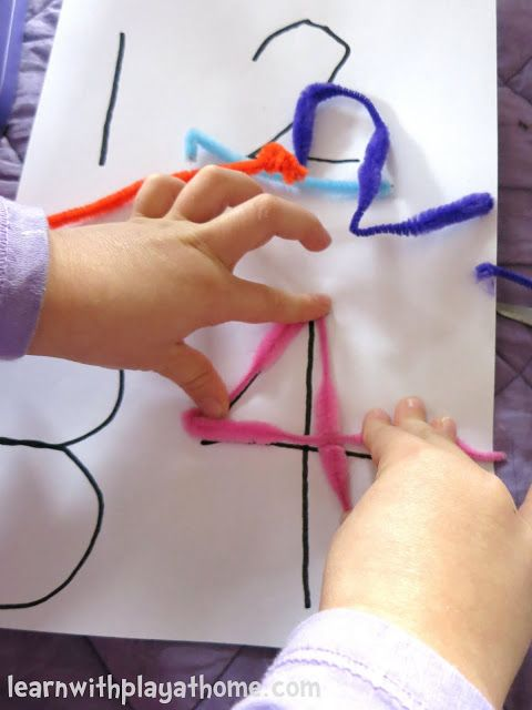 Learn with Play at Home: Pipe Cleaner Numbers. Playful Maths