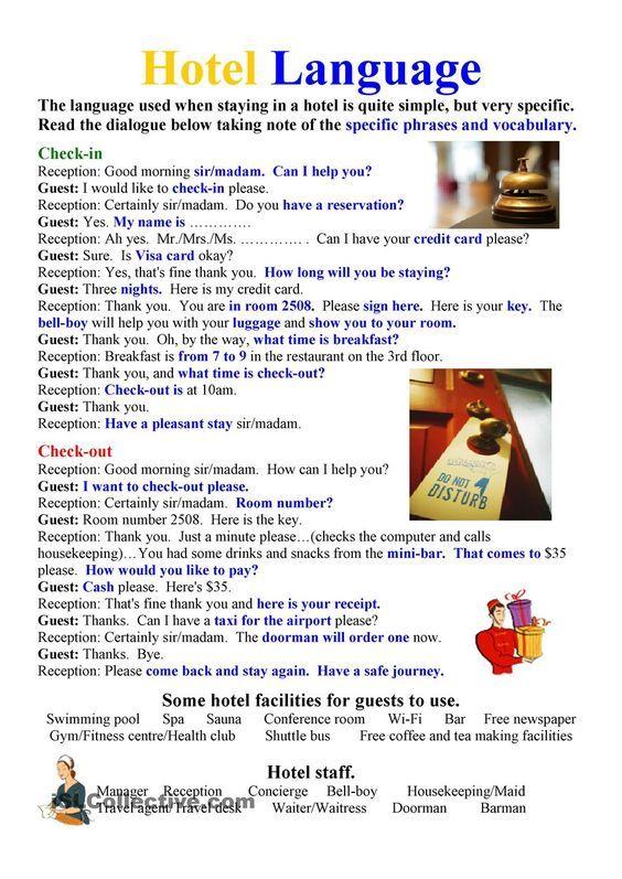 Forum | ________ Learn English | Fluent LandHOTEL Language | Fluent Land