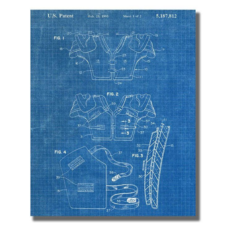 Football Pads US Patent Office