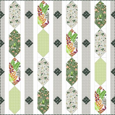 Download Diamond Row Free Pattern