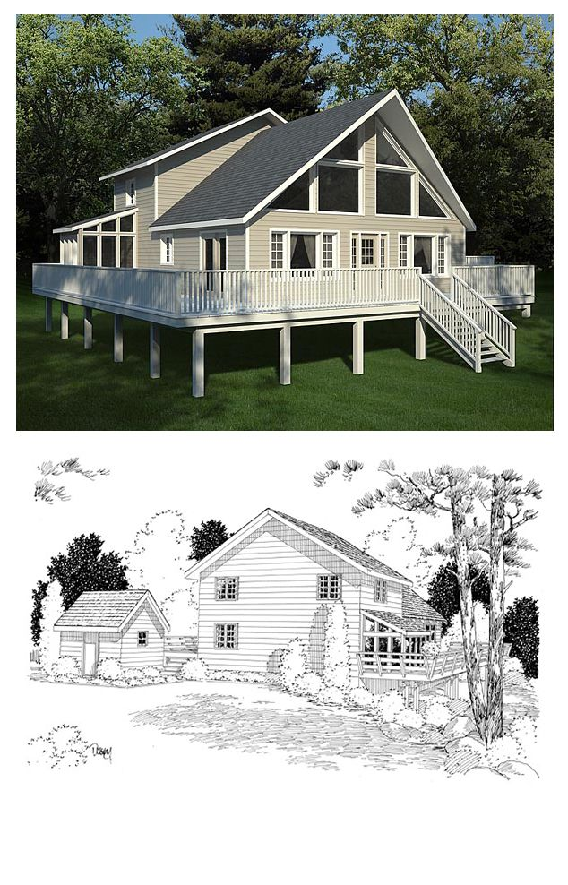 Hillside house plan 10515 total living area 2044 sq ft Hillside greenhouse plans