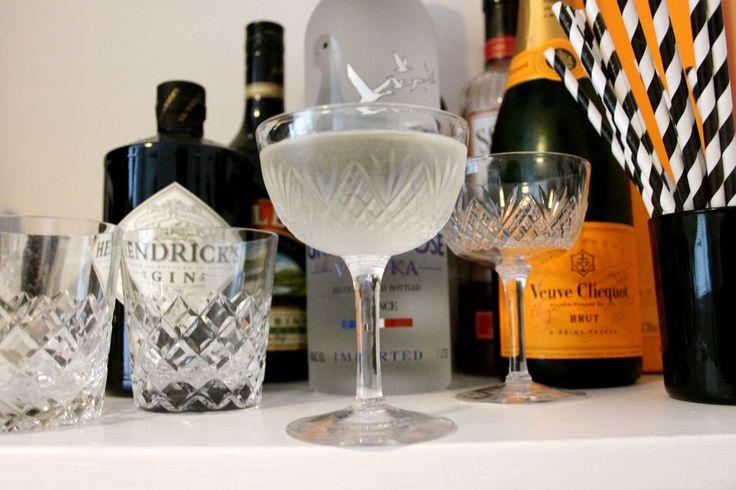 vintage glassware, vintage bar, veuve clicquot, hendricks gin, grey goose vodka, autumn hairstyle, rumi neely, fashiontoast, pierre balmain ...