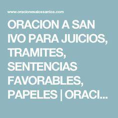 ORACION A SAN IVO PARA JUICIOS, TRAMITES, SENTENCIAS FAVORABLES, PAPELES | ORACIONES A LOS SANTOS