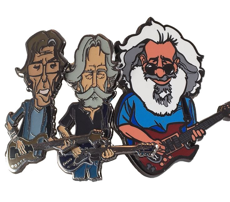 Grateful Dead 3 Pin Band Members Set  Glipglopshop.com
