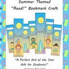 Summer Themed Bookmarks FREEBIE! 2 sets - 1 with name slots and 1 without....Visit my blog for more ideas and freebies: http://beckycastlethebarefootteacher.blogspot.com/