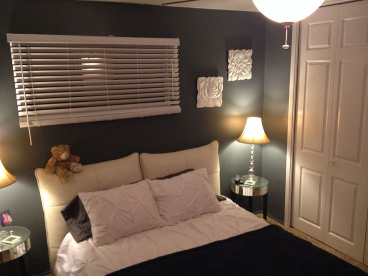 My master bedroom the color is lowe 39 s valspar satin - Satin paint on walls ...