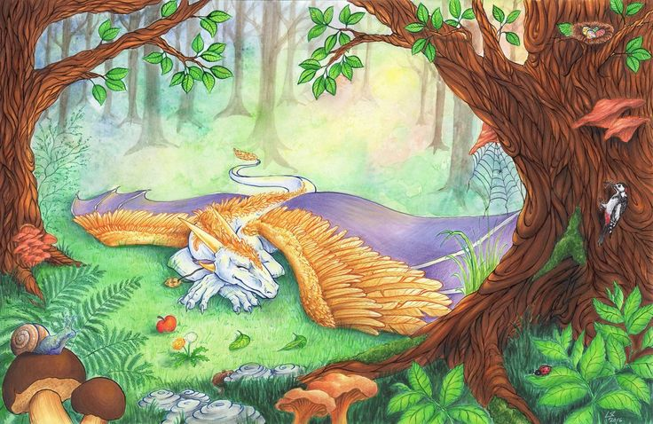 Spring Nap with a little bit of Love by Lelixiana