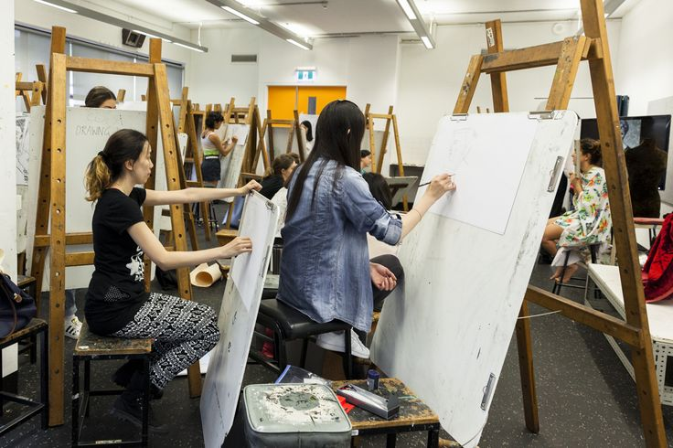 Students working in the Painting studios. Photo by Silversalt