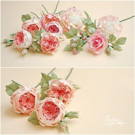 1Christine paper design - paper roses, diy paper flowers, juliete garden roses.