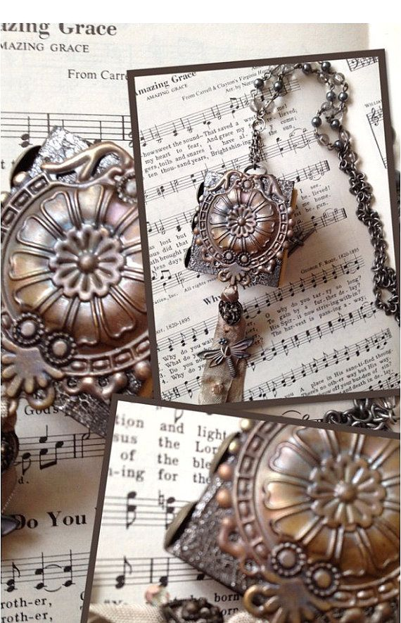 Art Book Necklace by leVintageViolet on Etsy, $72.00