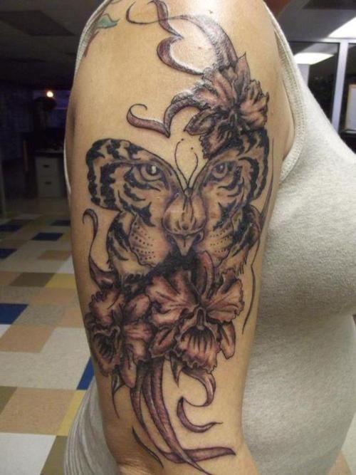 Apprentice  Tiger Butterfly Tattoo