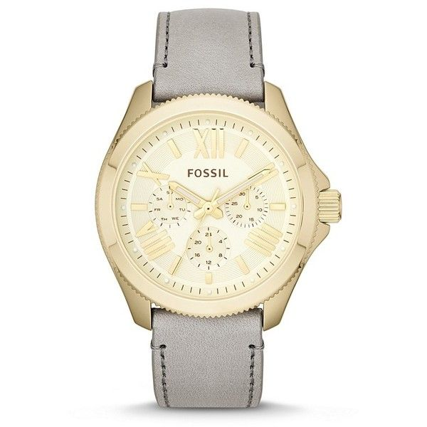 Fossil Cecile Multifunction Leather Watch - Gray