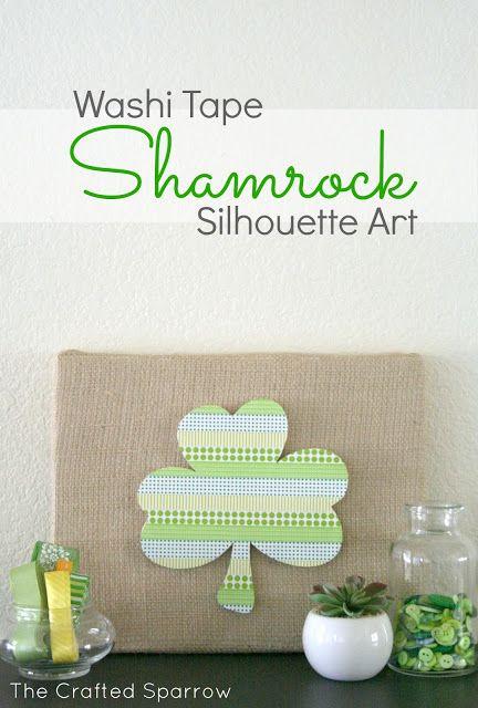 Washi Tape Shamrock | For more washi projects and inspiration visit thewashiblog.com | #washi #washitape #stpatricks