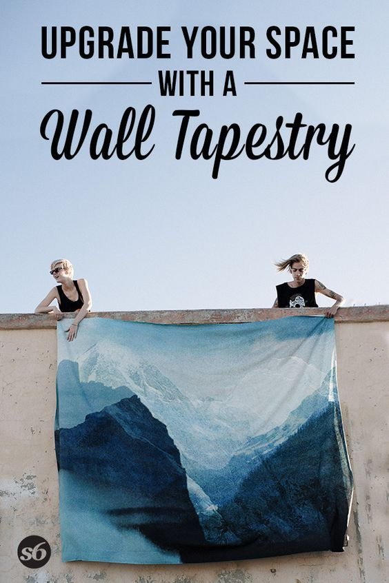 Cover your walls with TAPESTRIES! Society6 has TONS of prints to choose from, all designed by independent artists.