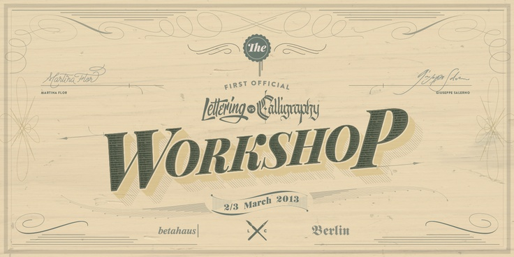 WORKSHOP | Lettering vs Calligraphy