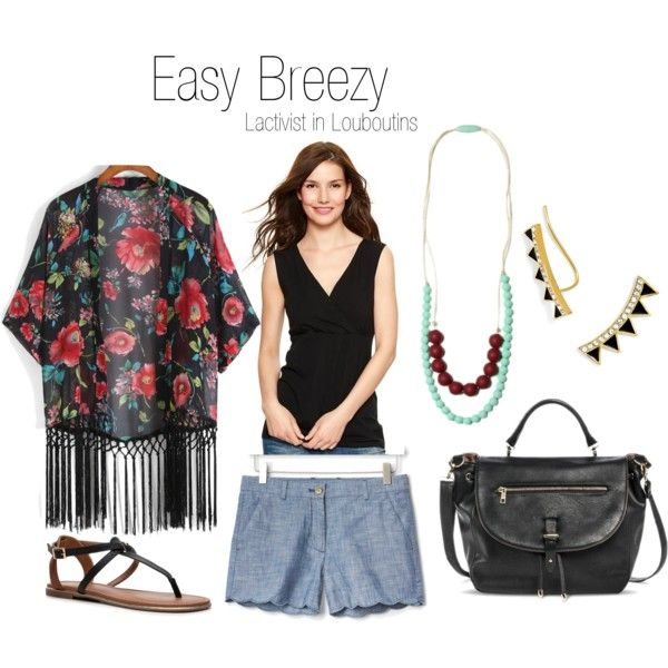 An easy and breastfeeding friendly outfit for the weekends. #breastfeeding #bfingstyle #nursinginpublic