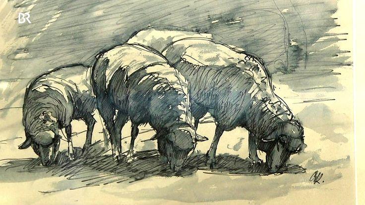 """Hinter dem Monogramm """"OK."""" auf diesen Studien von Schafen verbirgt sich nicht Oskar Kokoschka, der berühmte Expressionist und Vertreter der Wiener Moderne, sondern der Wiener Maler Oswald Roux. Geschätzter Wert: 150 Euro"""