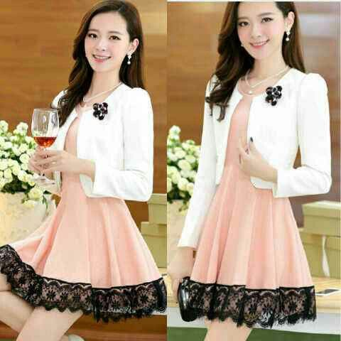 (Cs1605) dress isabel 82rb seri 3pcs@72rb bhn spandex mix lace Ld90 pjg80 cardi Ld90 pjg42 bross nempel #dress #dressmurah #bajufashion #bajufashionmurah