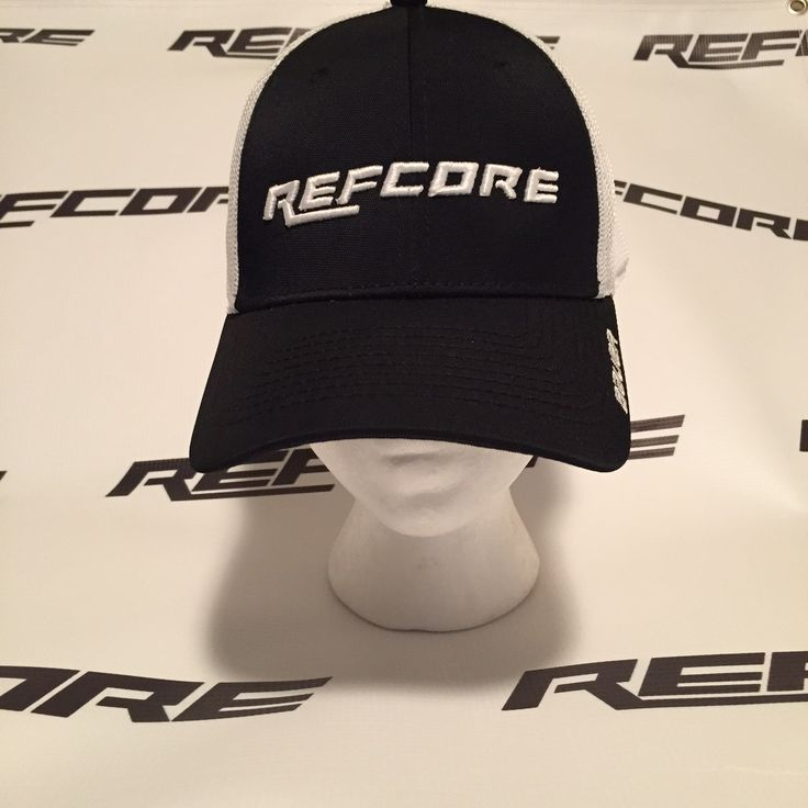 REFcore™ Hat by Bauer Hockey. Trucker style hat.  Great fit, available in 2 sizes S/M and M/L.  REFcore™ text logo in puff embroidery across the front centre of the hat. Referee apparel #refereeapparel #referee #apparel #hockey #bauer #hat #refcore #refereehat #refhat #refs #hockeyrefs #hockeyref #referee #hockeyreferee