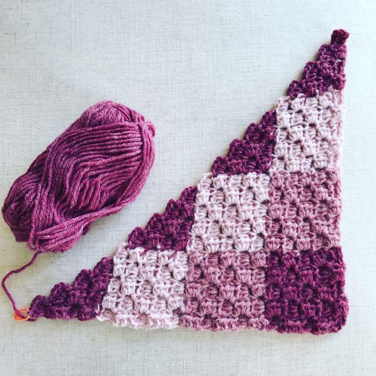 Gingham Crochet Corner to Corner Blanket in LionBrand Wool-Ease Yarn - Free Pattern