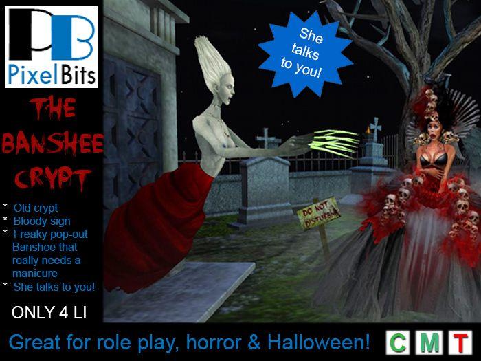 PB - The Banshee Crypt. She pounces and talks!