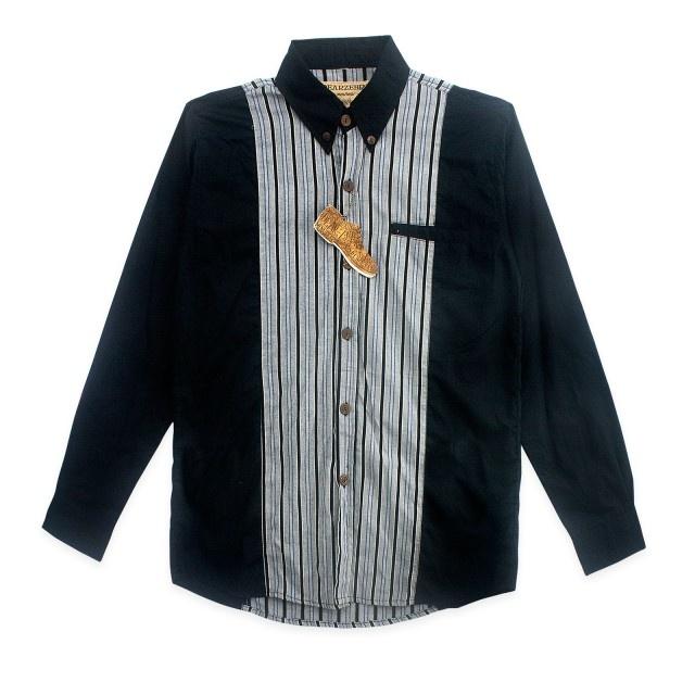Dear Zebra  Vertical Stripes 2 Tones LS Shirt